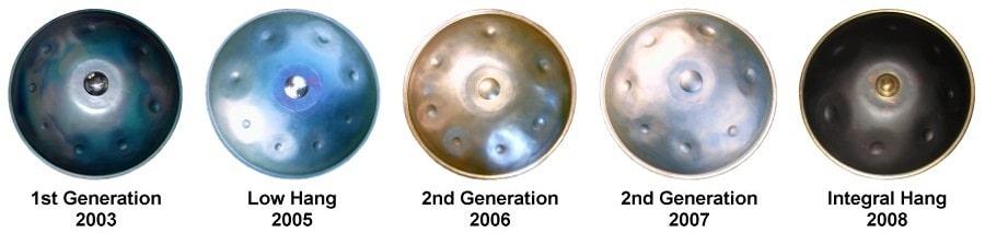 Generaciones del handpan desde su creación